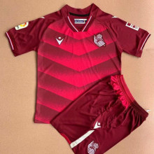 2021/22 Real Sociedad Away Red Kids Soccer Jersey
