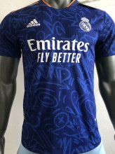 2021/22 RM Away Blue Player Version Soccer Jersey