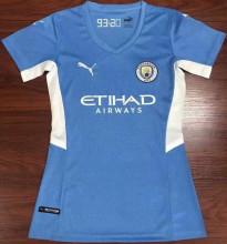 2021/22 Man City Home Blue Women Soccer Jersey
