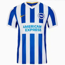 2021/22 Brighton Home White Blue Fans Soccer Jersey