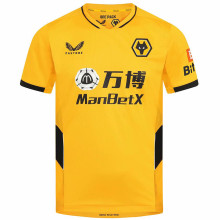 2021/22 Wolves Home Yellow Fans Soccer Jersey