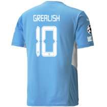GREALISH #10 Man City 1:1 Home Fans Jersey 2021/22 (UCL Font 欧冠字体)