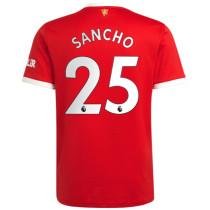SANCHO #25 M Utd 1:1 Home Fans Jersey 2021/22(League Font)