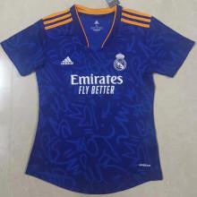 2021/22 RM Away Blue Women Soccer Jersey