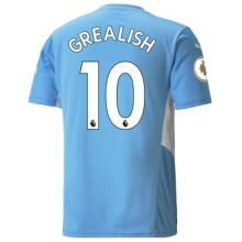 GREALISH #10 Man City 1:1 Home Fans Jersey 2021/22(League Font)