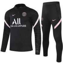 2021/22 PSG Black Half Pull Sweater Tracksuit
