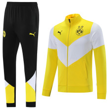 2021/22 BVB White And Yellow Jacket Tracksuit