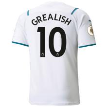 GREALISH #10 Man City 1:1 Away Fans Jersey 2021/22(League Font)