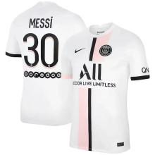 MESSI #30 PSG  Away 1:1 White Fans Jersey 2021/22