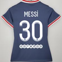 MESSI #30 PSG Home JD Blue Women Soccer Jersey 2021/22女装