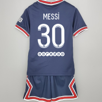 MESSI #30 PSG Home Kids Soccer Jersey 2021/22