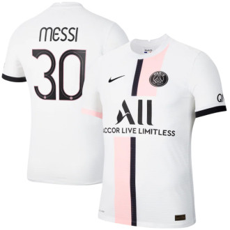 MESSI #30 PSG  Away 1:1 White Fans Jersey 2021/22(UCL Font欧冠字体)