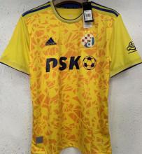 2021/22 Dinamo Zagreb Away Yellow Fans Soccer Jersey