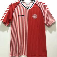 1986 Denmark Home Red Retro Soccer Jersey