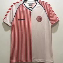 1986 Denmark Away Retro Soccer Jersey