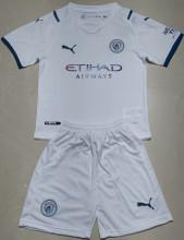 2021/22 Man City Away White Kids Soccer Jersey
