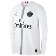 2018/19 PSG JD White Long Sleeve Soccer Jersey