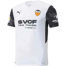 2021/22 Valencia Home White Fans Soccer Jersey