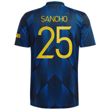 SANCHO #25 M Utd 1:1 Quality Third Dark Blue Fans Jersey 2021/22 (UCL Font 欧冠字体)