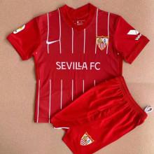 2021/22 Sevilla Away Red Kids Soccer Jersey