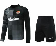 2021/22 BA Black GK Long Sleeve Soccer Jersey(A Set)(Pants Have Number)裤有号码
