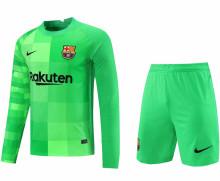 2021/22 BA Green GK Long Sleeve Soccer Jersey(A Set)(Pants Have Number)裤有号码