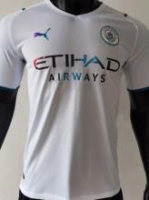 2021/22 Man City Away White Player Version Soccer Jersey