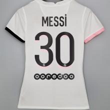 MESSI #30 PSG Away Women Soccer Jersey 2021/22女装