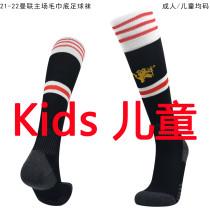 2021/22 Man Utd Home Black Kids Sock