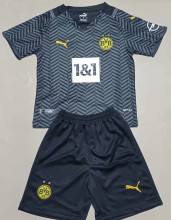 2021/22 BVB Away Black Kids Soccer Jersey