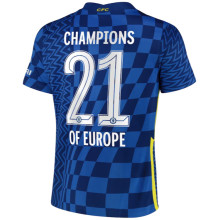CHAMPIONS OF EUROPE # 21 CFC 1:1 Home Fans Jersey 2021/22(UCL Font 欧冠字体)