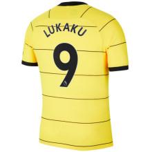 LUKAKU #9 CFC Away 1:1 Quality Yellow Fans Jersey 2021/22(League Font)