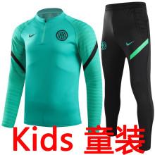 2021/22 In Milan Green Kids Sweater Tracksuit