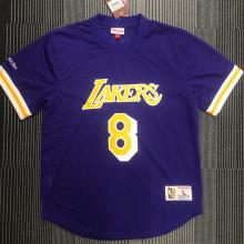 BRYANT # 8 Lakers Purple Mitchell Ness Retro Jerseys