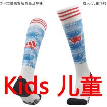 2021/22 Man Utd Away White Kids Sock