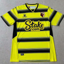 2021/22 Watford Home Yellow Black Fans Soccer Jersey