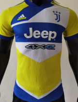 2021/22 JUV Third Yellow Player Version Soccer Jersey