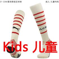 2021/22 AC Milan Away White Kids Sock