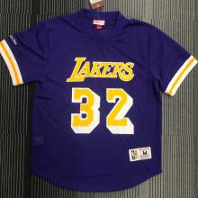 JOHNSON # 32 Lakers Purple Mitchell Ness Retro Jerseys