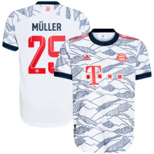 Müller #25 BFC Third White Fans Soccer Jersey 2021/22