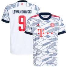 LEWANDOWSKI #9 BFC Third White Fans Soccer Jersey 2021/22
