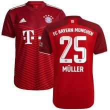 Müller #25 BFC Home Red Fans Soccer Jersey 2021/22