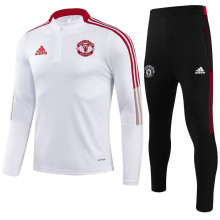 2021/22 M Utd White Sweater Tracksuit