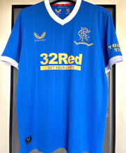 2021/22 Rangers 1:1 Quality Home Blue Fans Soccer Jersey
