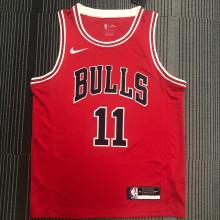 Bulls DeRozan #11 Red NBA Jerseys Hot Pressed