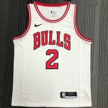 Bulls Ball #2 White NBA Jerseys Hot Pressed