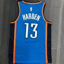 OKC THUNDER HARDEN #13 Blue NBA Jerseys Hot Pressed