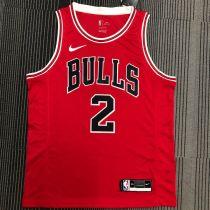 Bulls Ball #2 Red NBA Jerseys Hot Pressed