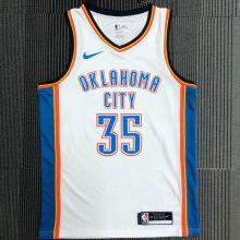 OKC THUNDER DURANT #35 White NBA Jerseys Hot Pressed