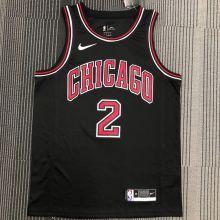 Bulls Ball #2 Black NBA Jerseys Hot Pressed